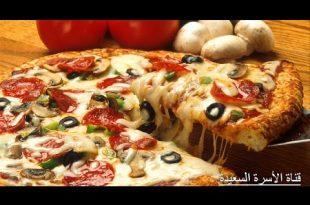 صورة طريقة عمل البيتزا في البيت , ماهى انواع البيتزات