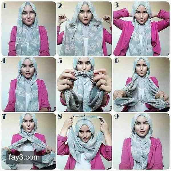 بالصور صور لفات حجاب , صور اشيك لفات الحجاب 2741 1