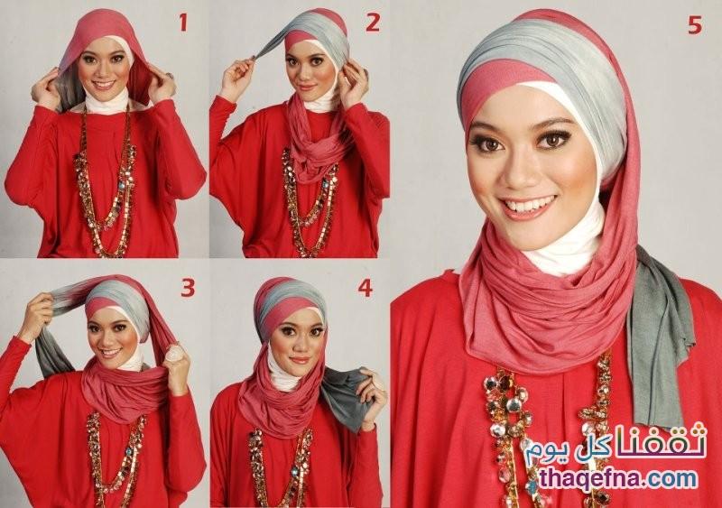 بالصور صور لفات حجاب , صور اشيك لفات الحجاب 2741 4