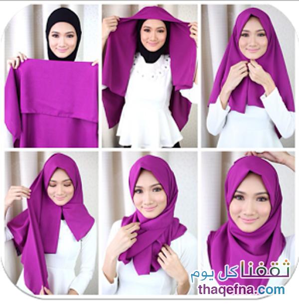 بالصور صور لفات حجاب , صور اشيك لفات الحجاب 2741