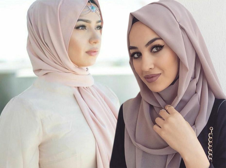 صوره طرق لف الحجاب , احدث موضة في لف الحجاب