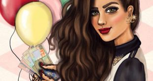 بنات كيوت رسم , اجمل الصور المرسوم للبنات كيوت