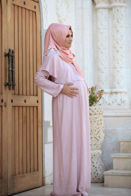 بالصور ملابس للحوامل المحجبات , احدث المودلات لحوامل 3448