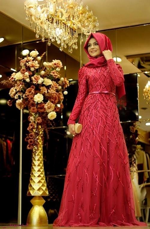 صورة فساتين سواريه بسيطه وشيك للمحجبات , صور احدث الفساتين للمحجبات
