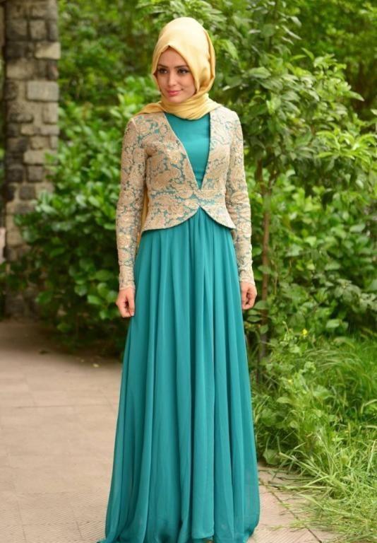 صورة اجمل الفساتين للمحجبات , اجمل فستان للمحجبات
