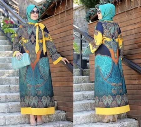 صورة موضة صيف 2019 للمحجبات , صور ملابس محتشمة