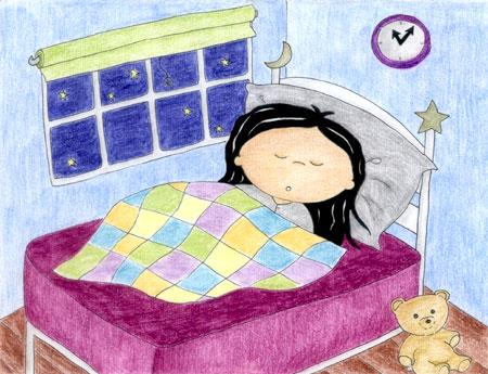 صور كرتون عن النوم