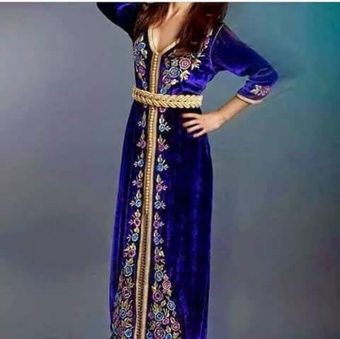 صوره قفطان تونسي , اجمل الملابس هو القفطان التونسي