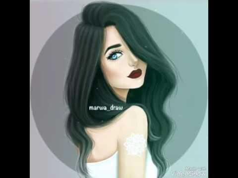 صورة صور بنات رسومات , صورة اجمل بنت مرسومه