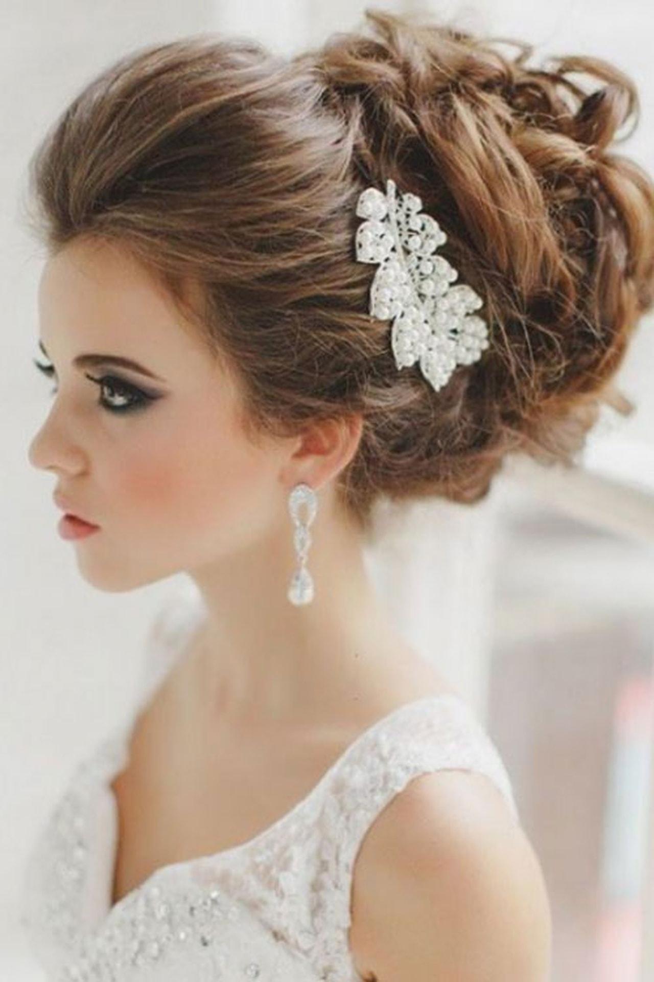 df1344fc4 تسريحه عروس , اجمل الصيحات فى تسريحات العروسة - حبيبي