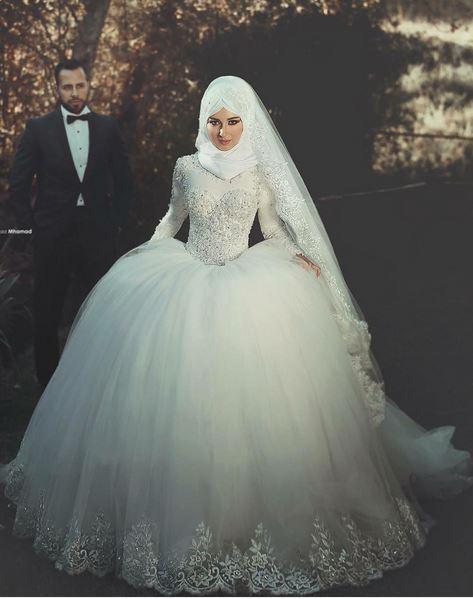 بالصور صور عرايس محجبات اجمل صورة لاجمل عروسة محجبه روعه 1670 2