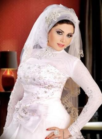 بالصور صور عرايس محجبات اجمل صورة لاجمل عروسة محجبه روعه 1670 3