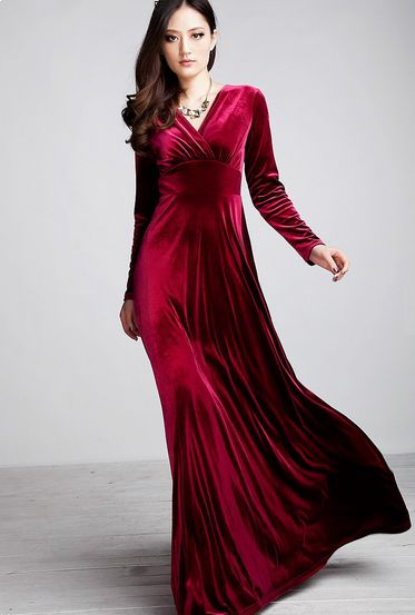 صورة موديلات فساتين مخمل , اجمل فستان مخمل للسهرة 2308 17