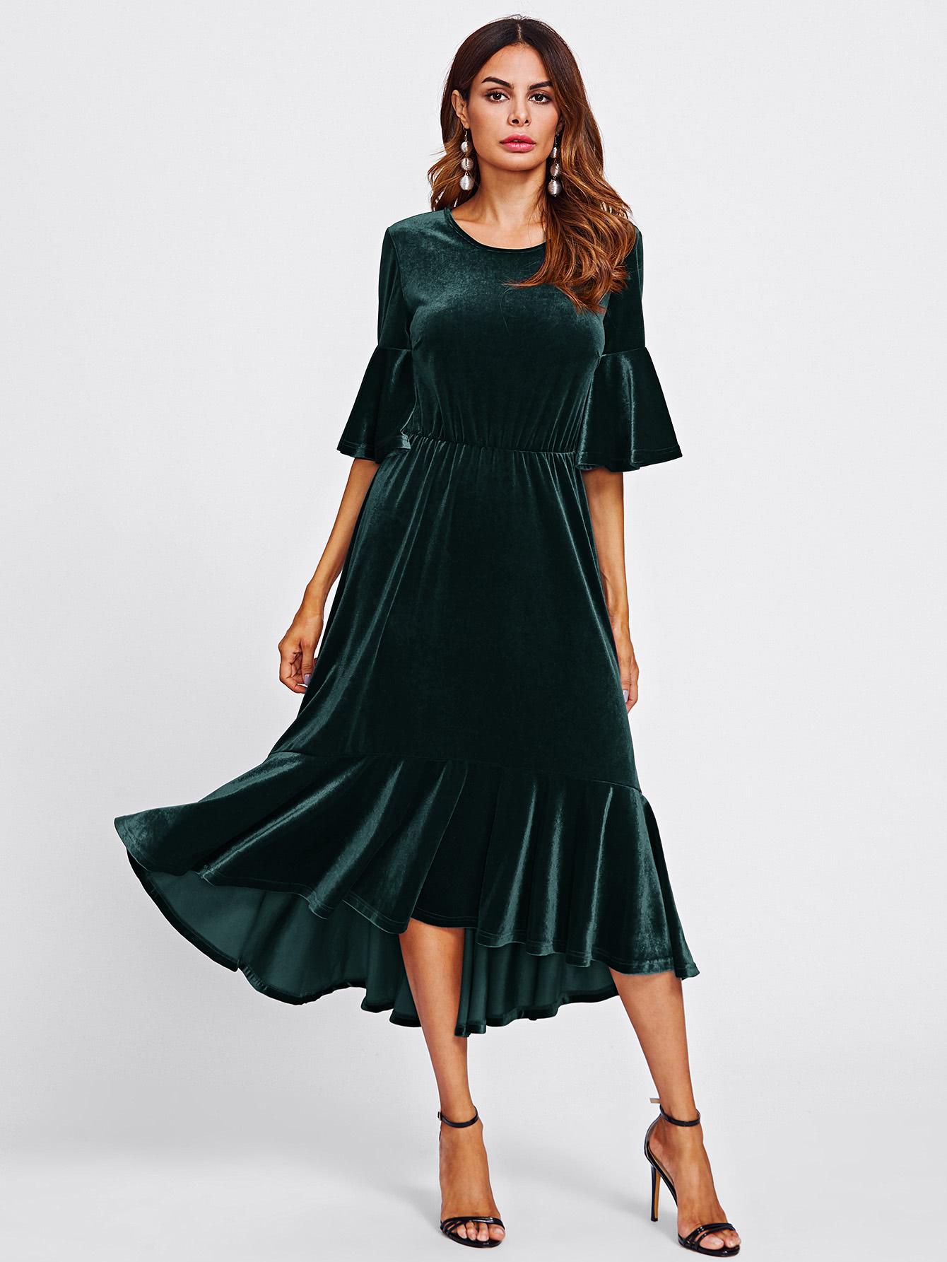 صورة موديلات فساتين مخمل , اجمل فستان مخمل للسهرة 2308 22