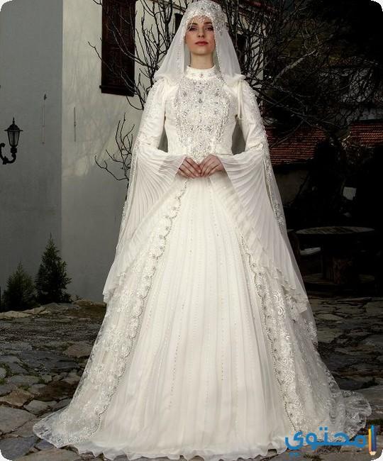 صور فساتين اعراس للمحجبات , اجمل فستان الزفاف للمحجبات