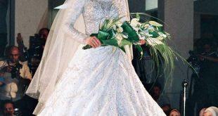صورة فساتين اعراس للمحجبات , اجمل فستان الزفاف للمحجبات