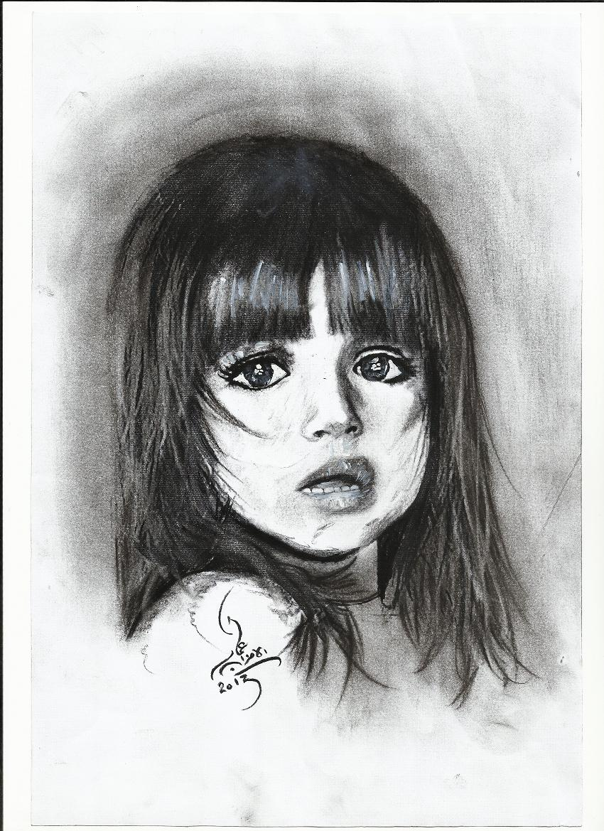 رسومات بنات جميلة اجمل اشكال الرسومات الابيض والاسود حبيبي