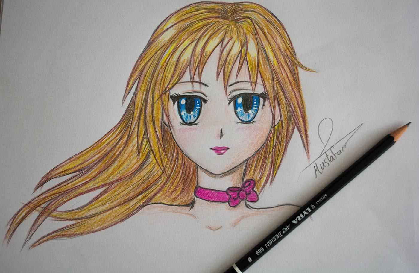 رسم انمي اجمل الرسومات انمى حبيبي