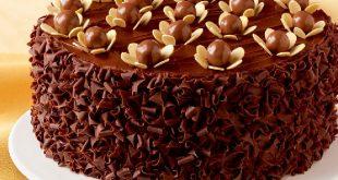 صورة طريقة تزيين كيكة الشوكولاته , افكار بسيطه وشكل جديد لكيكه الشيكولاته
