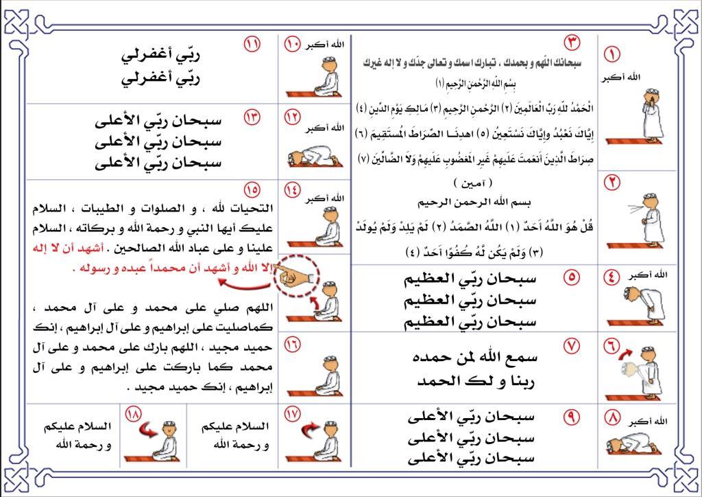 بالصور طريقة الصلاة الصحيحة بالصور , تعرف على كيفيه الصلاه الصحيحه بالصور 5899 2