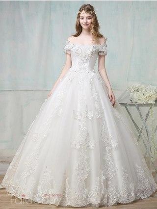 بالصور فساتين زفاف فخمه , اجمل فساتين الفرح للعروسة 1483 11