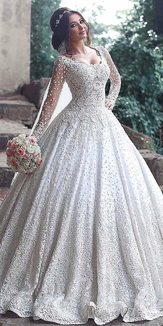 بالصور فساتين زفاف فخمه , اجمل فساتين الفرح للعروسة 1483 2