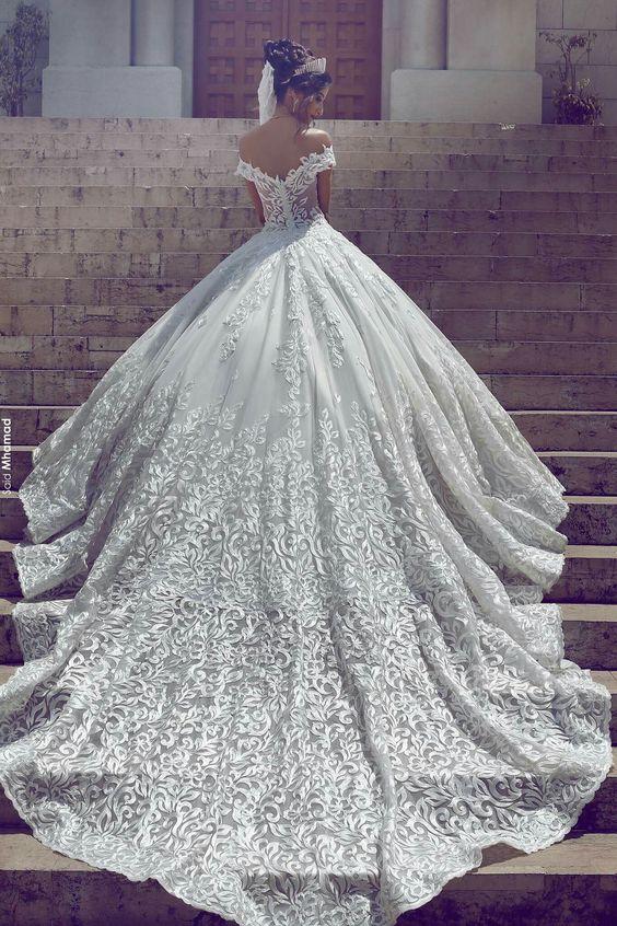 بالصور فساتين زفاف فخمه , اجمل فساتين الفرح للعروسة 1483 3