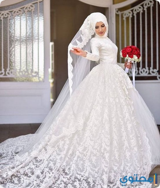 بالصور فساتين زفاف فخمه , اجمل فساتين الفرح للعروسة 1483 6