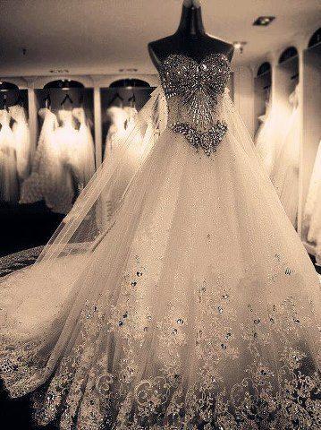 بالصور فساتين زفاف فخمه , اجمل فساتين الفرح للعروسة 1483 9