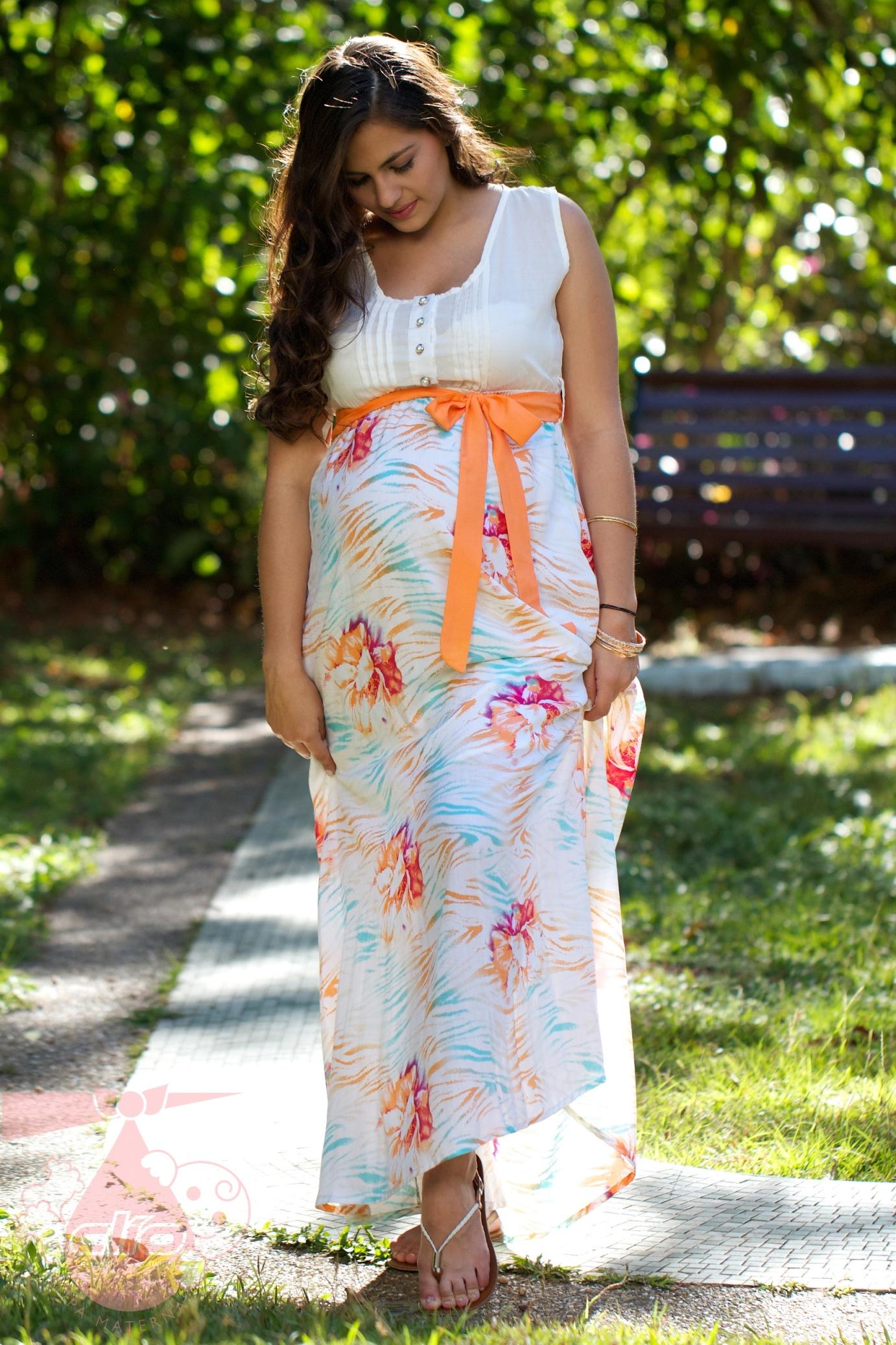بالصور فساتين للحوامل , اجمل الفساتين المريحة للحوامل 1512 3
