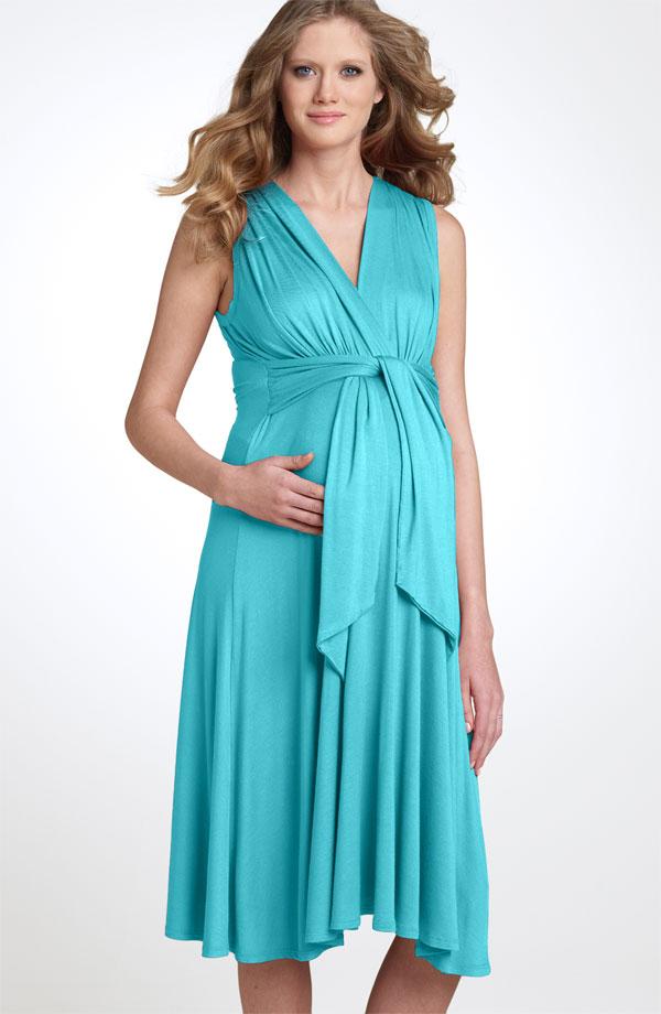 بالصور فساتين للحوامل , اجمل الفساتين المريحة للحوامل 1512 6