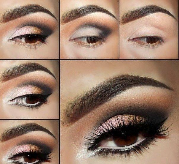 صورة مكياج عيون بالصور خطوة خطوة , تعلمي كيفية تزيين العيون خطوة خطوة 5276 4