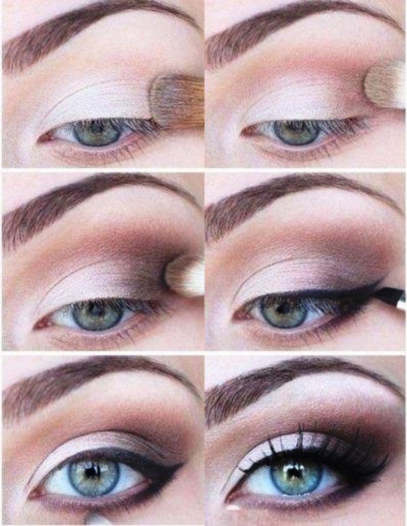 صورة مكياج عيون بالصور خطوة خطوة , تعلمي كيفية تزيين العيون خطوة خطوة 5276 8