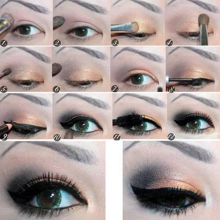 صورة مكياج عيون بالصور خطوة خطوة , تعلمي كيفية تزيين العيون خطوة خطوة 5276 9