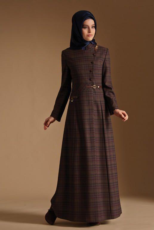 صورة ملابس شتوية للمحجبات تركية , اجمل اللباس التركى الدافء للمحجبات