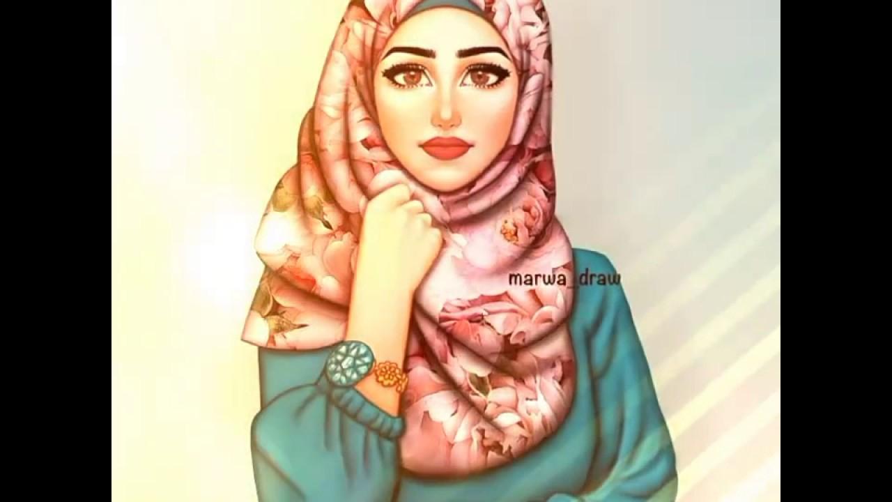 صور صور بنات محجبة كرتون , اروع صور لحجاب البنات