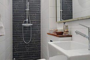 صورة ديكورات حمامات صغيرة جدا وبسيطة , لو حمام بيتك صغير اختارلك ديكور