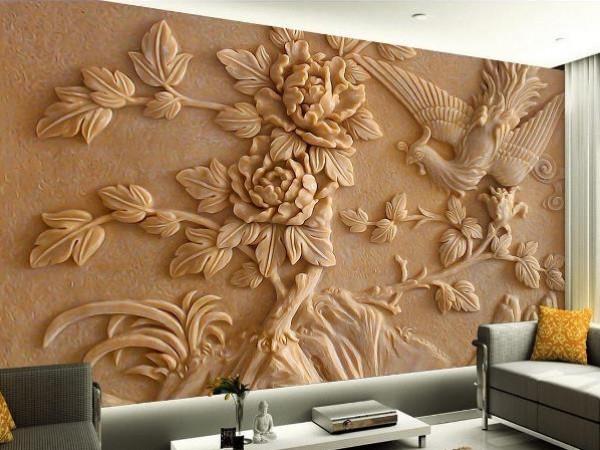 صورة ورق جدران ثلاثي الابعاد , اجمل اشكال ورق الجدران 4432 2