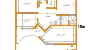 صور خرائط منازل 200 متر دور واحد , اروع انواع الخرائط المنزل