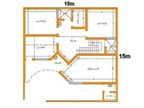 خرائط منازل 200 متر دور واحد اروع انواع الخرائط المنزل حبيبي