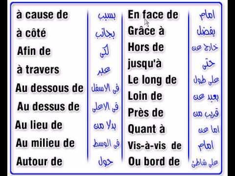 صورة دروس اللغة الفرنسية , عبارات وكلمات باللغة الفرنيسية