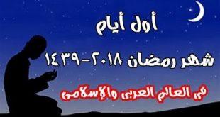 اول ايام رمضان , ايام شهر رمضان الجليل