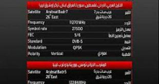 صورة تردد ام بي سي برو , تردد بعض القنوات الفضائية
