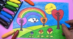 صورة رسم منظر طبيعي للاطفال , لوحات من الطبيعه برسم الصغار