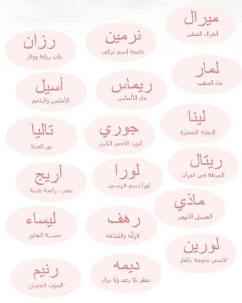 صور معاني اسماء البنات , صور لاجمل مفردات اسامى الصبايا